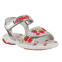 Buy Lelli Kelly Strawberry Glitter Sandals, Metallic/Red Online at johnlewis.com
