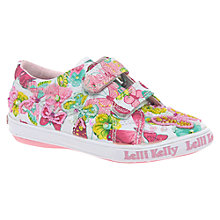 Buy Lelli Kelly Maisie Beaded Butterfly Canvas Shoes, White/Pink Online at johnlewis.com