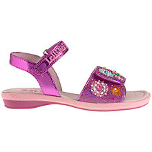 Buy Lelli Kelly Girls' Scandi Beaded Sandals, Fuschia Glitter Online at johnlewis.com