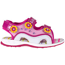 Buy Lelli Kelly Diamanté Appliqués Trekker Sandals, Fuschia/Pink Online at johnlewis.com