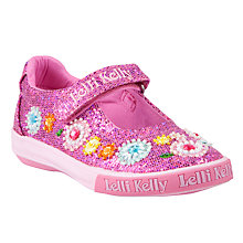 Buy Lelli Kelly Sandi Floral Beaded Shoes, Fuschia Online at johnlewis.com