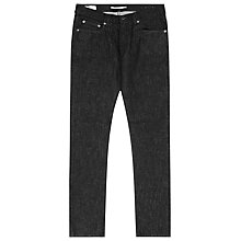 Buy Reiss Stinger Flecked Slim Jeans, Black Online at johnlewis.com