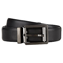 Buy Aquascutum Nappa Leather Belt, Black Online at johnlewis.com