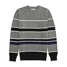 Buy Reiss Skills Stripe Crew Neck Jumper, Charcoal/Multi Online at johnlewis.com