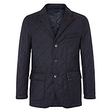 Buy Aquascutum Quilted Flannel Jacket, Navy Online at johnlewis.com