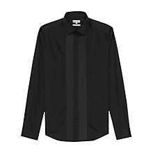Buy Reiss Roulette Pleated Bib Front Shirt, Black Online at johnlewis.com