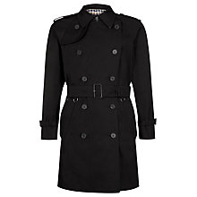 Buy Aquascutum Corby Double Breasted Raincoat, Black Online at johnlewis.com