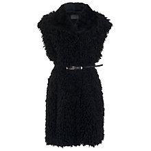 Buy French Connection Fallon Faux Fur Gilet, Black Online at johnlewis.com