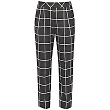 Buy French Connection Ciao Checked Trousers, Black/White Online at johnlewis.com