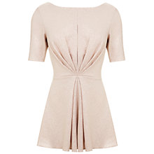 Buy Miss Selfridge Shimmer Foil Twist Playsuit, Gold Online at johnlewis.com