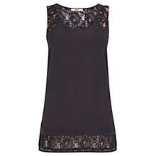 Buy Oasis Lace Trim Longline Vest Top Online at johnlewis.com