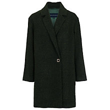 Buy French Connection Capri Textured Coat, Green Mix Online at johnlewis.com