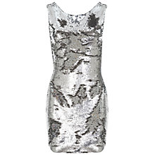 Buy Miss Selfridge Sequin Bodycon Dress, Silver Online at johnlewis.com