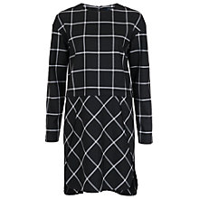 Buy French Connection Ciao Check Dress, Black/White Online at johnlewis.com