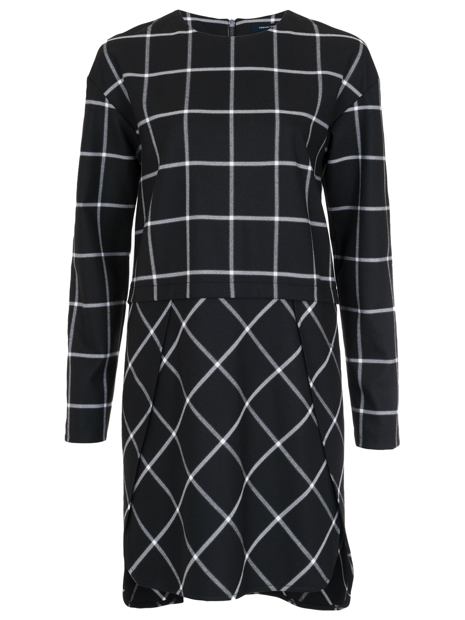 french connection ciao check dress black/white, french, connection, ciao, check, dress, black/white, french connection, 10|12|14|8|6, clearance, womenswear offers, womens dresses offers, women, inactive womenswear, new reductions, womens dresses, special offers, 1717143