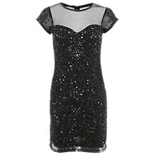 Buy Miss Selfridge Premium Collection Mia Sweetheart Dress, Black Online at johnlewis.com