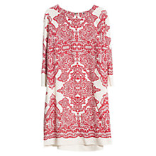 Buy Violeta by Mango Mosaic Print Dress, Red/White Online at johnlewis.com