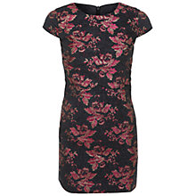 Buy Miss Selfridge Petite Jacquard Overlay Dress, Black Online at johnlewis.com