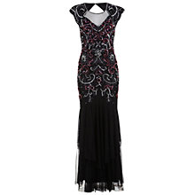 Buy Miss Selfridge Premium Collection Rose Maxi Dress, Black Online at johnlewis.com
