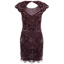 Buy Miss Selfridge Premium Collection Dakota Bodycon Dress, Burgundy Online at johnlewis.com