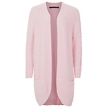 Buy French Connection Fast Feather Cardigan, Wild Rose Online at johnlewis.com