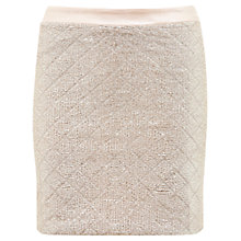 Buy Miss Selfridge Mini Skirt, Gold Online at johnlewis.com