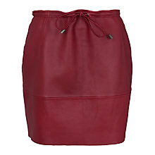 Buy French Connection Luxe Leather Mini Skirt, Burnt Whiskey Online at johnlewis.com