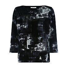 Buy Windsmoor Print Velvet Top, Dark Grey Online at johnlewis.com