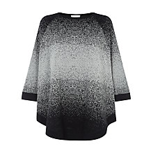 Buy Windsmoor Scattered Ombre Cape Jumper, Grey Online at johnlewis.com