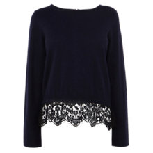 Buy Coast Estar Knit Top, Navy Online at johnlewis.com
