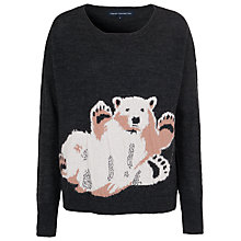 Buy French Connection Polar Fun Wool Blend Jumper, Dark Grey Melange Online at johnlewis.com