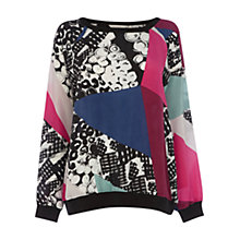 Buy Wishbone Avril Graphic Silk Top, Multi Online at johnlewis.com