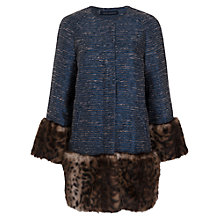 Buy French Connection Corvette Coat, Blue/Leopard Online at johnlewis.com