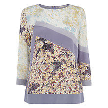 Buy Wishbone Sheila Patched Floral Silk Top, Multi Online at johnlewis.com