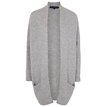 Buy French Connection Winter Fluff Cardigan, Light Grey Online at johnlewis.com