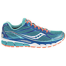 Buy Saucony Ride 7 Women's Running Shoes, Blue/Coral Online at johnlewis.com
