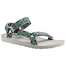 Buy Teva Universal Sandals, Grey/Green Online at johnlewis.com