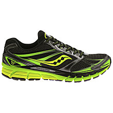 Buy Saucony Guide 8 Men's Running Shoes, Black/Slime Online at johnlewis.com