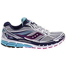 Buy Saucony Guide 8 Women's Running Shoes, White/Pink Online at johnlewis.com