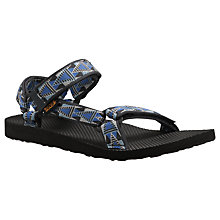 Buy Teva Men's Universal Sandals, Black/Blue Online at johnlewis.com