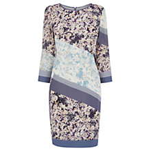 Buy Wishbone Elise Patched Floral Silk Dress, Multi Online at johnlewis.com