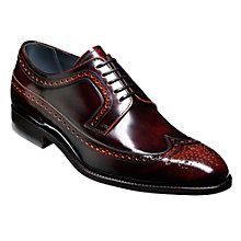 Buy Barker Woodbridge Leather Brogue Derby Shoes, Brandy Online at johnlewis.com