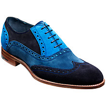 Buy Barker Grant Suede Oxford Brogue Shoes, Multi Blue Online at johnlewis.com