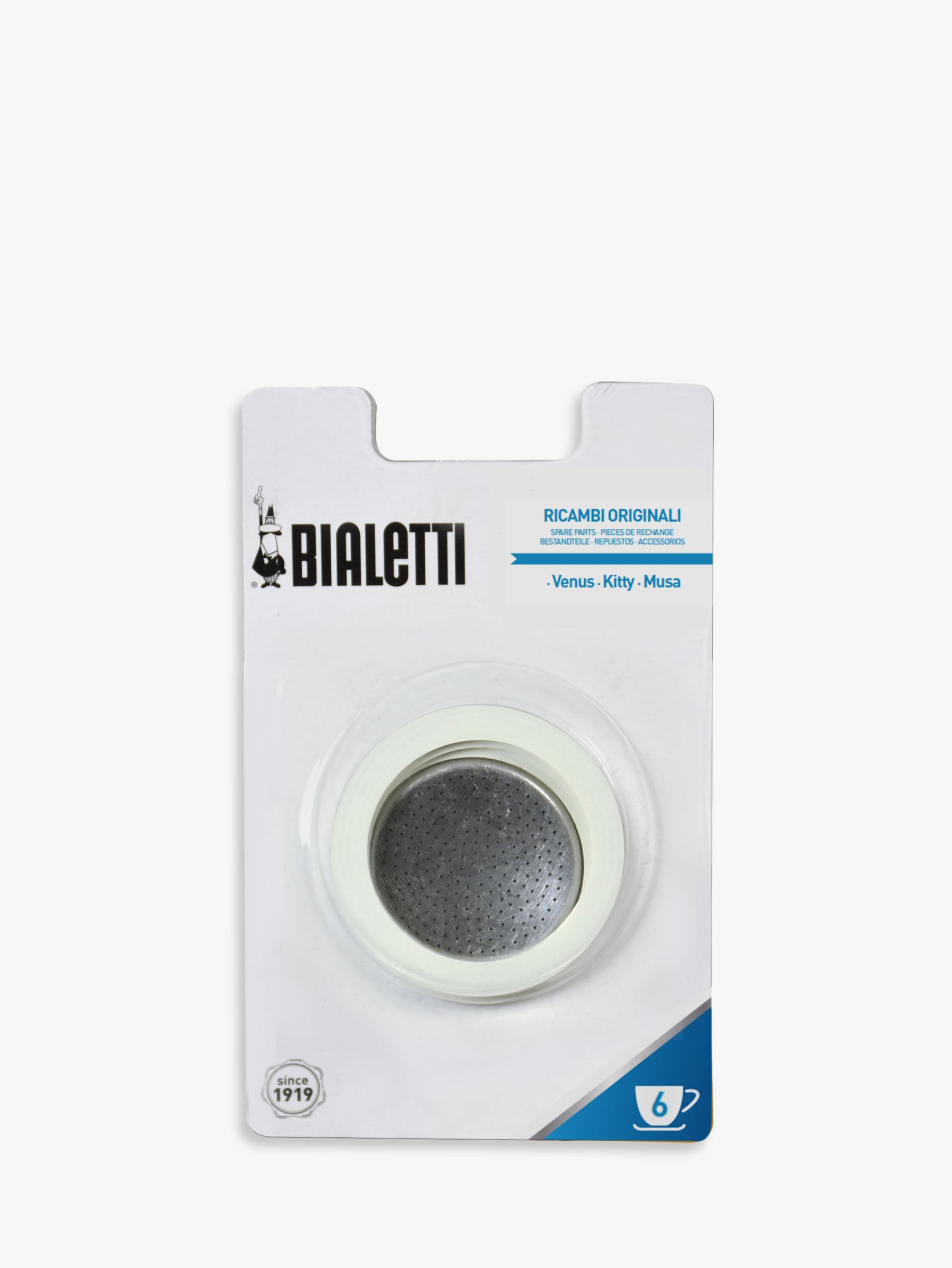 Bialetti Coffee Maker John Lewis : Buy Bialetti Venus Induction Stove-top Coffee Maker Replacement Gasket and Filter John Lewis