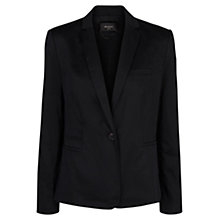 Buy Mango Cotton Suit Blazer, Black Online at johnlewis.com