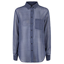 Buy Mango Printed Shirt, Dark Blue Online at johnlewis.com