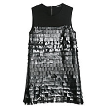 Buy Mango Fringe Dress, Black Online at johnlewis.com