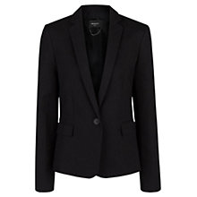 Buy Mango Essential Cotton-Blend Blazer, Black Online at johnlewis.com