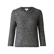 Buy Jigsaw Sparkle Jumper, Grey Online at johnlewis.com
