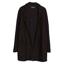 Buy Mango Unstructured Wool Blend Coat, Black Online at johnlewis.com